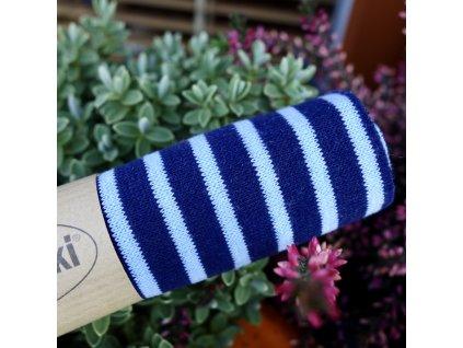 náplet jemný 15 x 70 cm proužky odstíny modré