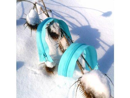 dělitelný spirálový zip YKK - 70 cm, světle tyrkysový