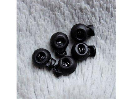 brzdička kulatá 1 dírka prům. 4 mm černá