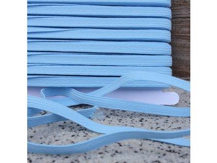 0,5 m prádlová pruženka světle modrá 6 mm