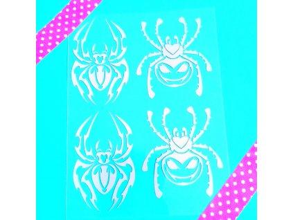 Reflexní nažehlovací potisk - pavouci
