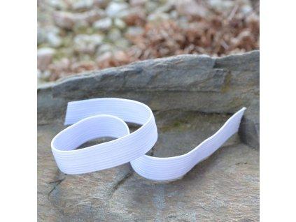 0,5 m pruženka do pasu klasická prádlová bílá 12 mm