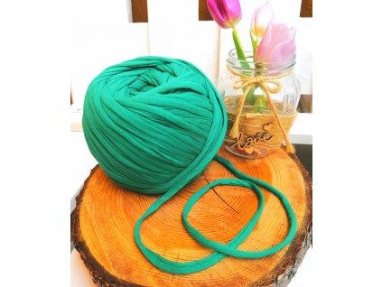 """0,5 m bavlněná tkanice - """"špagát"""", zelená 10 mm"""