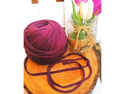 """0,5 m bavlněná tkanice - """"špagát"""", fialovo - hnědá 10 mm"""