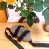 165 cm ozdobná lemovací pruženka black waves 10 mm