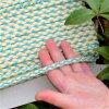 0,5 m bavlněná tkanice tyrkys žlutá 0,5 cm