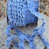 0,5 m řasený dekorovací proužek modrý 15 mm