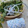 0,5 m copánek ze sešitých šikmých proužků květinky 10 mm