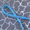 reflexní taháček na zip - modrý