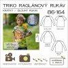 dětské triko s raglánovým rukávem - tištěný střih Caramilla