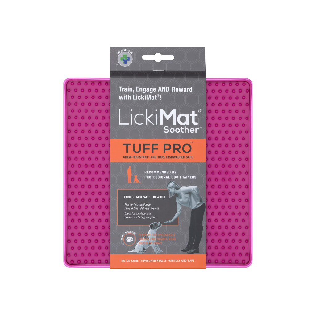 9349785006434 LM9032PK DR LickiMat PRO Soother Dog Pink (1) (1)