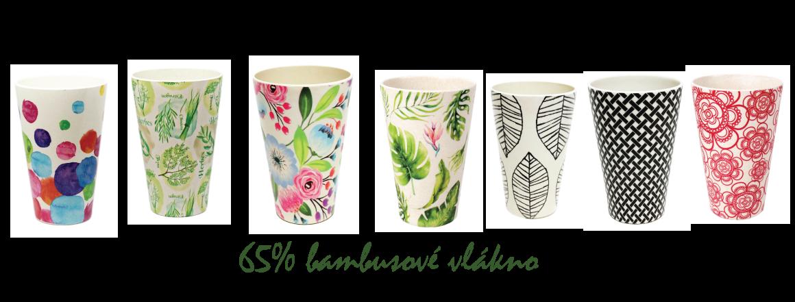 bambusové poháre