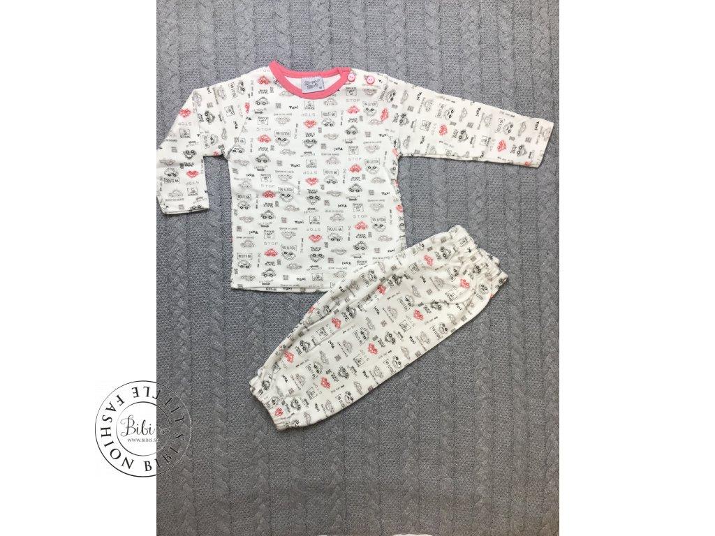 Bavlnené pyžamo ROUTE 66 (Veľkosti 80 - 9 až 12 mesiacov)