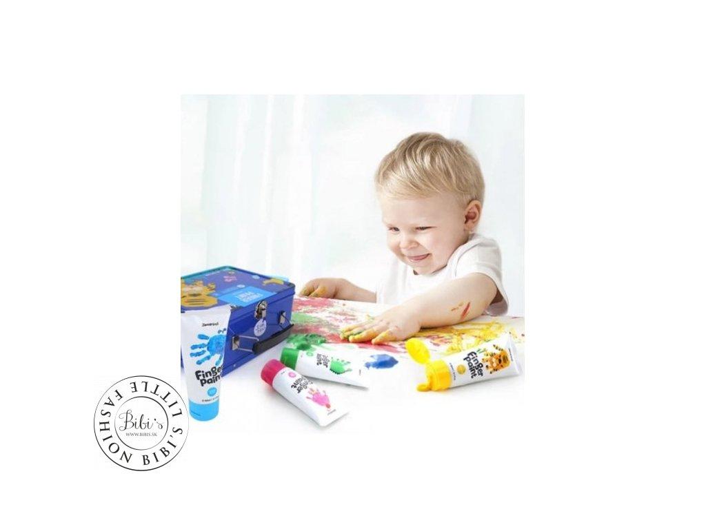 JA91982 Kreativny Set prstove farby s peciatkami Modry kufrik JarMelo 03 500x500