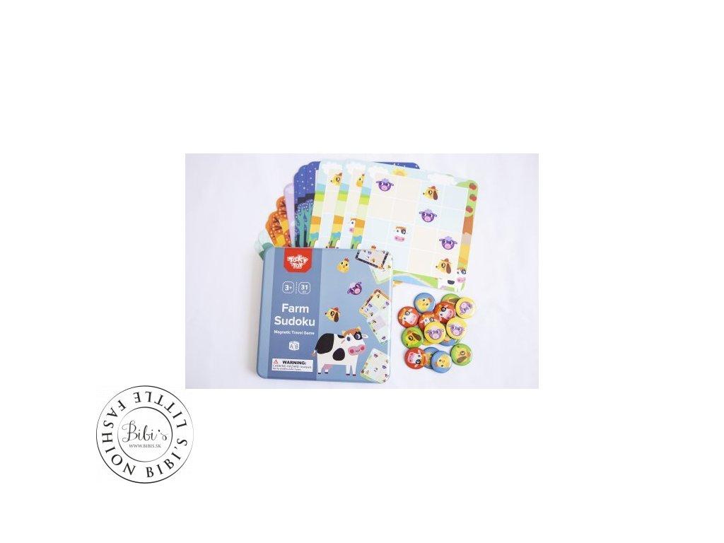 magneticke sudoku zvierata na farme tooky toys TL631 02 500x500