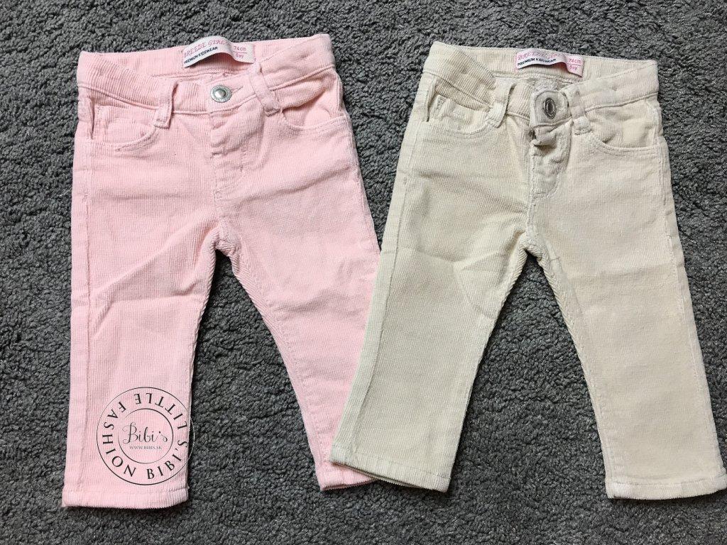 Menčestrákové nohavice ružové (Veľkosti 74 - 6 až 9 mesiacov)