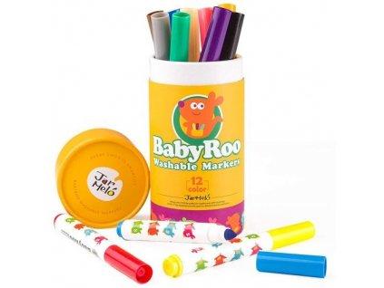 umyvatelne fixky 12ks washable markers baby roo jar melo JA90480 1 500x500