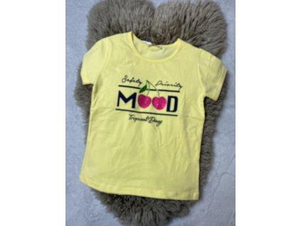 Čerešňové tričko žlté