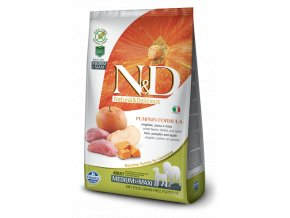N&D GF Pumpkin DOG Adult M/L Boar & Apple - 12kg balení  - Doprava DPD ZDARMA