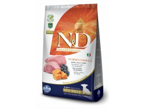 N&D GF Pumpkin DOG Puppy Mini Lamb & Blueberry-  7kg balení -
