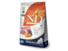 N&D GF Pumpkin DOG Puppy M/L Lamb & Blueberry - 12kg balení  - Doprava DPD zdarma