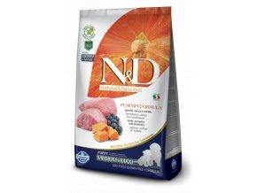 N&D GF Pumpkin DOG Puppy M/L Lamb & Blueberry - 12kg balení  - Doprava In Time zdarma, barel zdarma k 7kg a 12kg balení