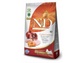 N&D GF Pumpkin DOG Adult Mini Chicken&Pomegranate -  7kg balení  - Doprava Zdarma