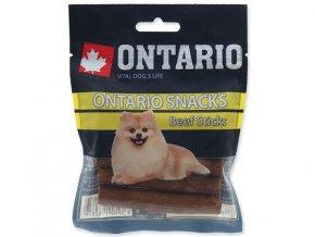 Snack ONTARIO Dog Rawhide Stick 7,5 cm (5ks)