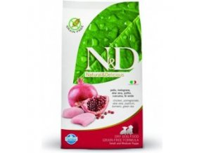 N&D Grain Free DOG Puppy S/M Chicken & Pomegr 2,5kg