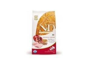 N&D Low Grain DOG Adult Chicken & Pomegranate M/L 12kg - In Time Doprava Zdarma, barel zdarma k 7kg a 12kg balení