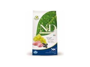 N&D Grain Free Cat Adult jehněčí+Blueberry  5kg + Doprava DPD Zdarma