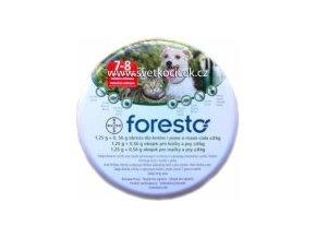 Bayer Foresto obojek pro malé psy do 8kg a kočky 38cm