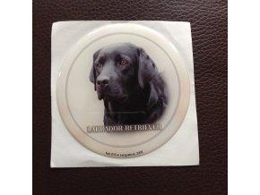 3D Samolepka 10 cm Labrador Retriever - černý