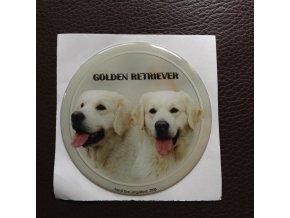 3D Samolepka 10 cm Golden Retriever