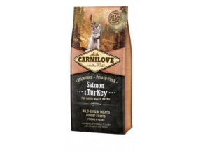 Carnilove Dog Salmon & Turkey for LB Puppies NEW