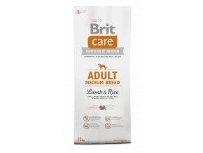 Brit Care Dog Adult Medium Breed Lamb & Rice 12+2kg zdarma