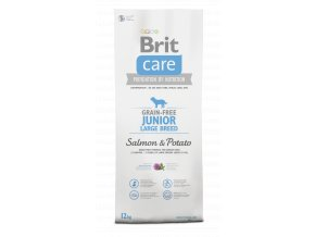 Brit Care Dog Grain-free Junior LB Salmon & Potato 12+2kg zdarma
