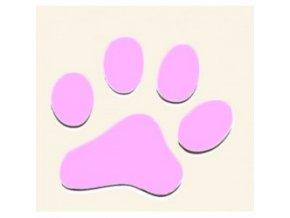 3D Samolepka 5 cm tlapka - růžová
