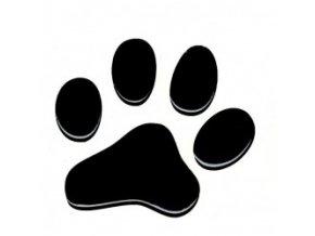 3D Samolepka 5 cm tlapka - černá