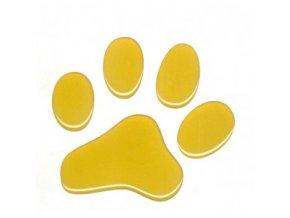 3D Samolepka 5 cm reflexní - žlutá