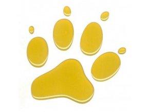 3D Samolepka 10 cm tlapka reflexní - žlutá