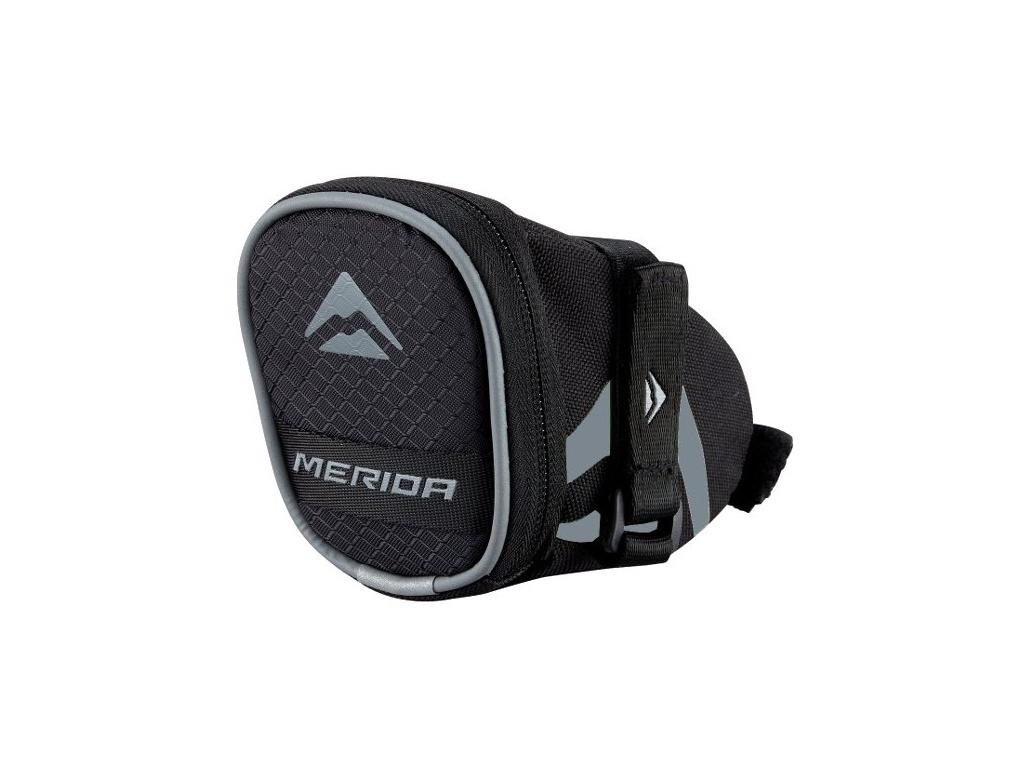 Taška podsedlová 3807 Velcro šedo-čierna