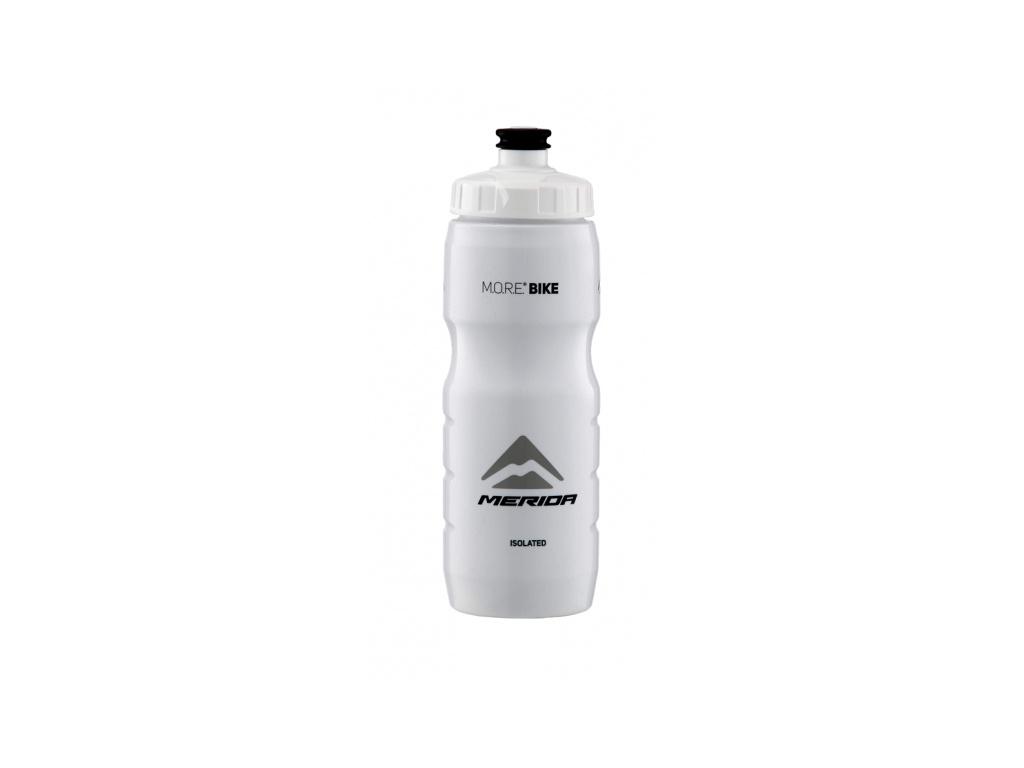 Fľaša Termo 2993 MERIDA V-logo čierna/biela 0.6 l