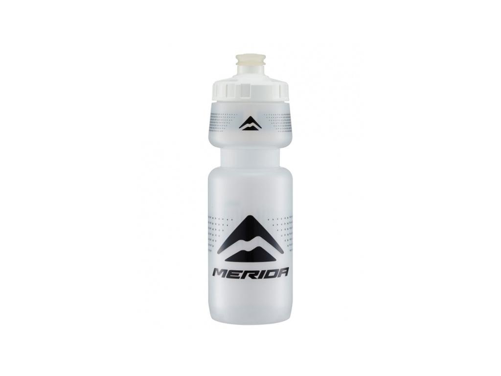 Fľaša 2829 MERIDA V-logo čierna/transparent 0.6 l