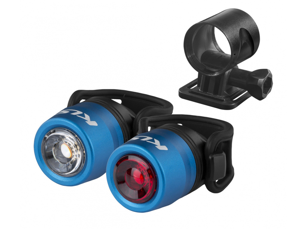 Osvetlenie set nabíjateľný KLS IO USB, blue