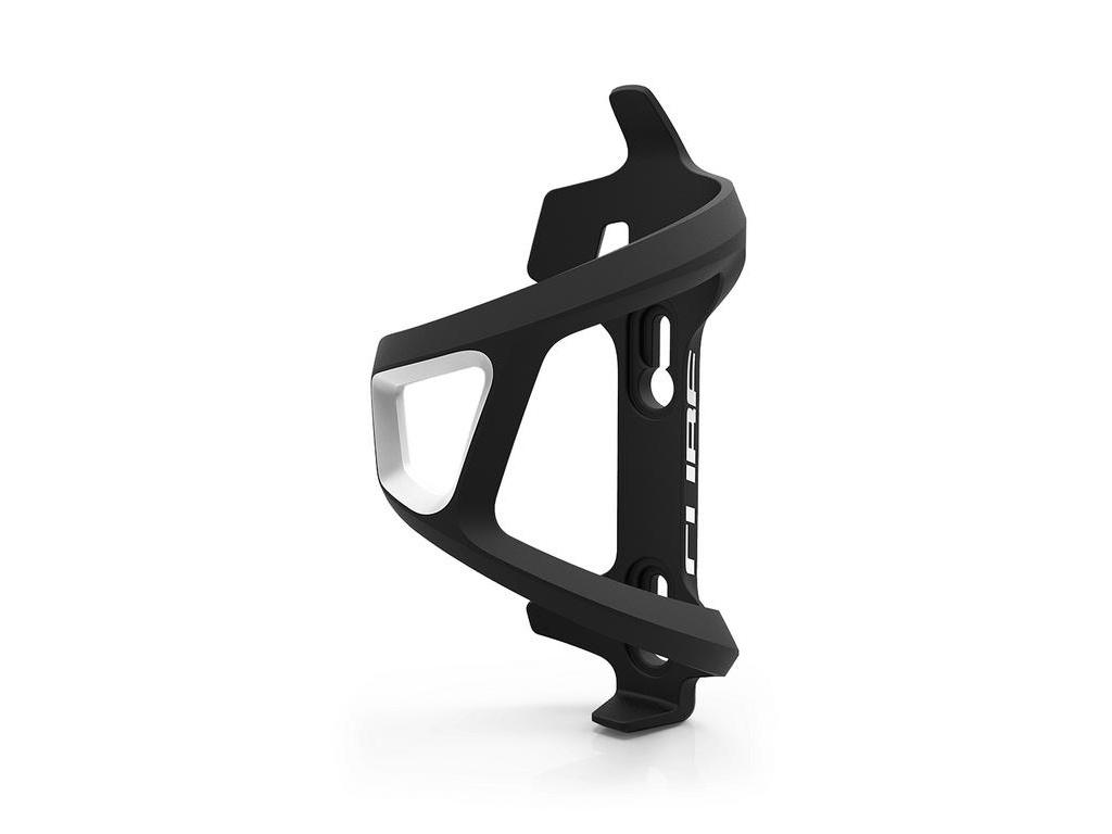 Košík na fľašu CUBE HPP Sidecage ľavý čierno biely