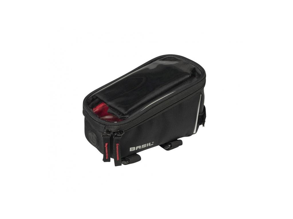 Kapsička na rám bicykla s púzdrom na mobil BASIL SPORT DESIGN FRAME BAG