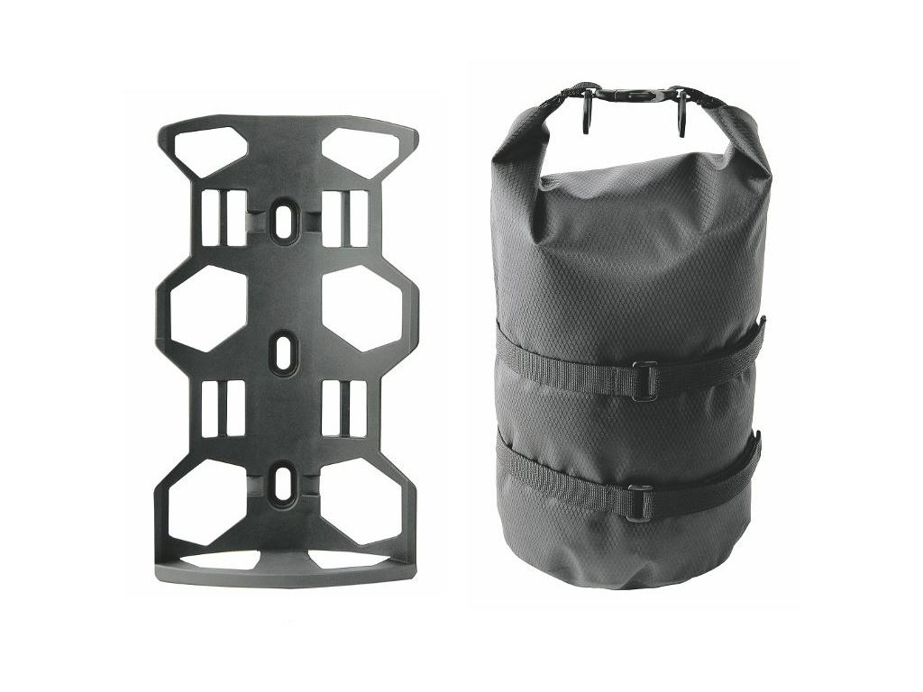 Košík Gravel s taškou do rámu/na vidlicu 4035 čierna