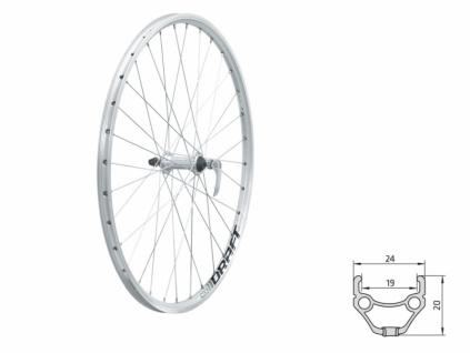 """Zapletené koleso predné KLS DRAFT F 26"""" silver"""