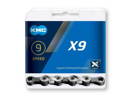 Reťaz KMC X9 Silver/Gray, 9 Speed